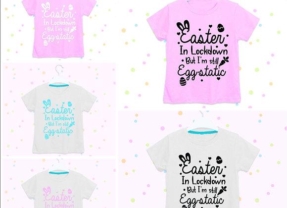 Lockdown Easter T-shirt Boys, Girls, Bunny Ears, Cute bunny design