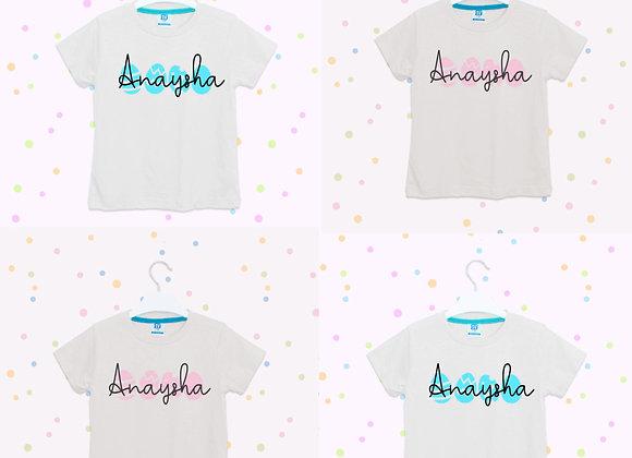 Personalised Eggs Easter T-shirt Boys Girls, Egg design