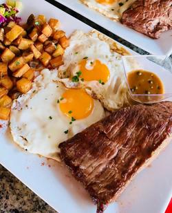 Steak&Eggs, œufs au plat