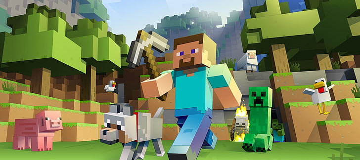 minecraft-video-games-pixels-wallpaper-p