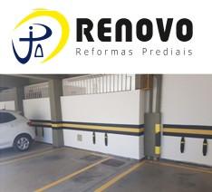 Pintura de demarcação de vagas de garagem em condomínio prédios e empresas BH e Região