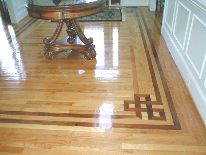 oshkosh border hardwood inlay