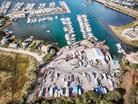 aerial view of Gwenmor Marina Mystic CT