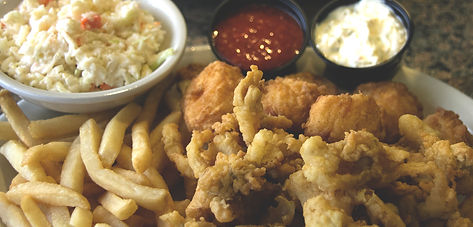 fried clams, scallops and shrimp