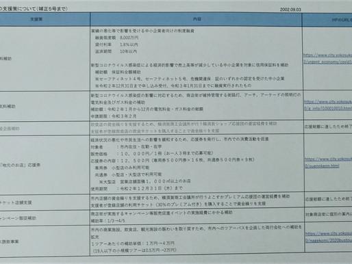 新型コロナ感染症支援策(横須賀市) 最新版