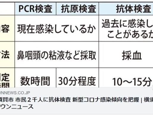 抗体検査 横須賀市は2000人対象