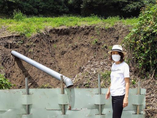 豪雨被害 横須賀崖崩れ現場へ
