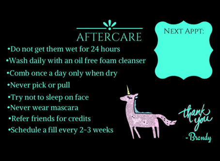 Eyelash Extension Aftercare