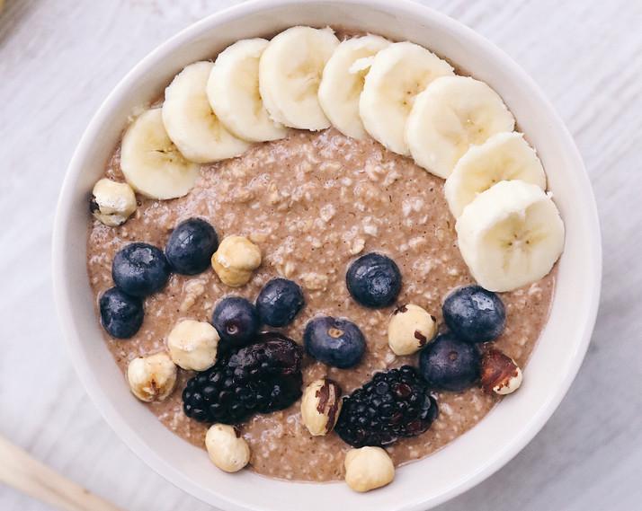 Raw-porridge vegano sabor nutella