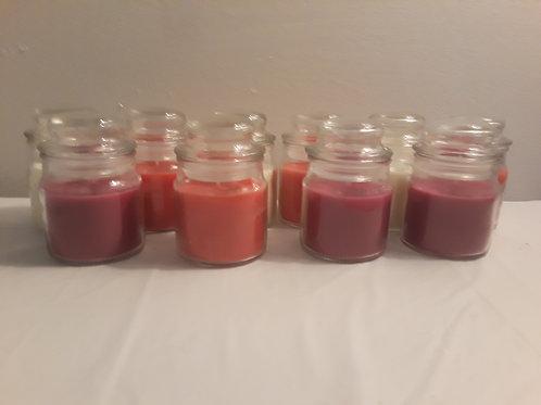 4 oz candle filled jars