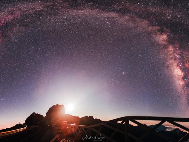 Milchstraße - Mond