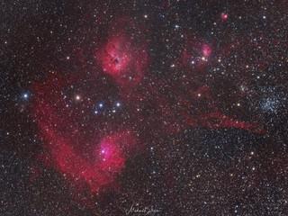Flaming Star Nebel