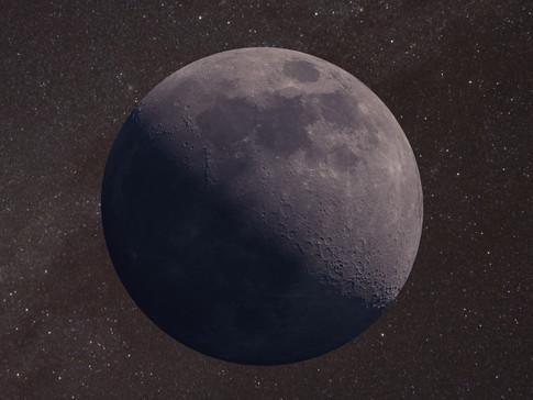 Mond in 3D