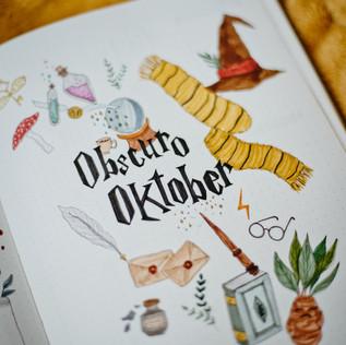 Bullet Journal Setup - Oktober 2020 / Kreativität & Harry Potter