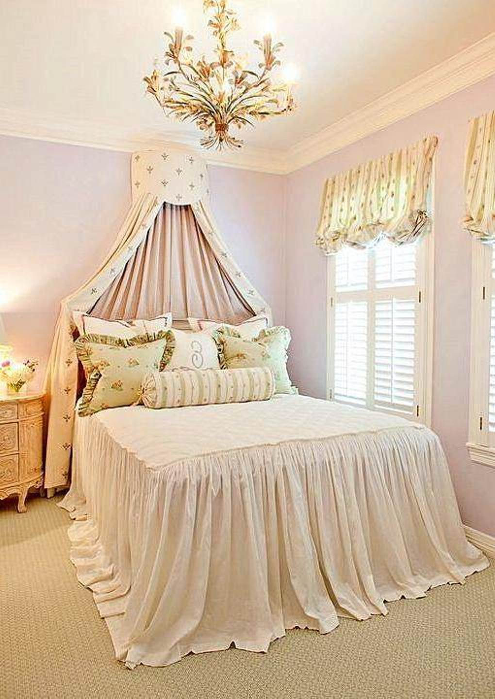 shabby-chic french bedroom