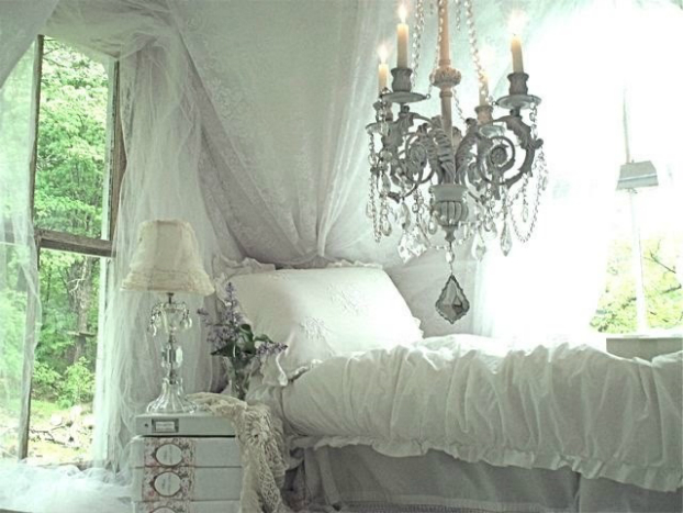 shabby-chic bedroom