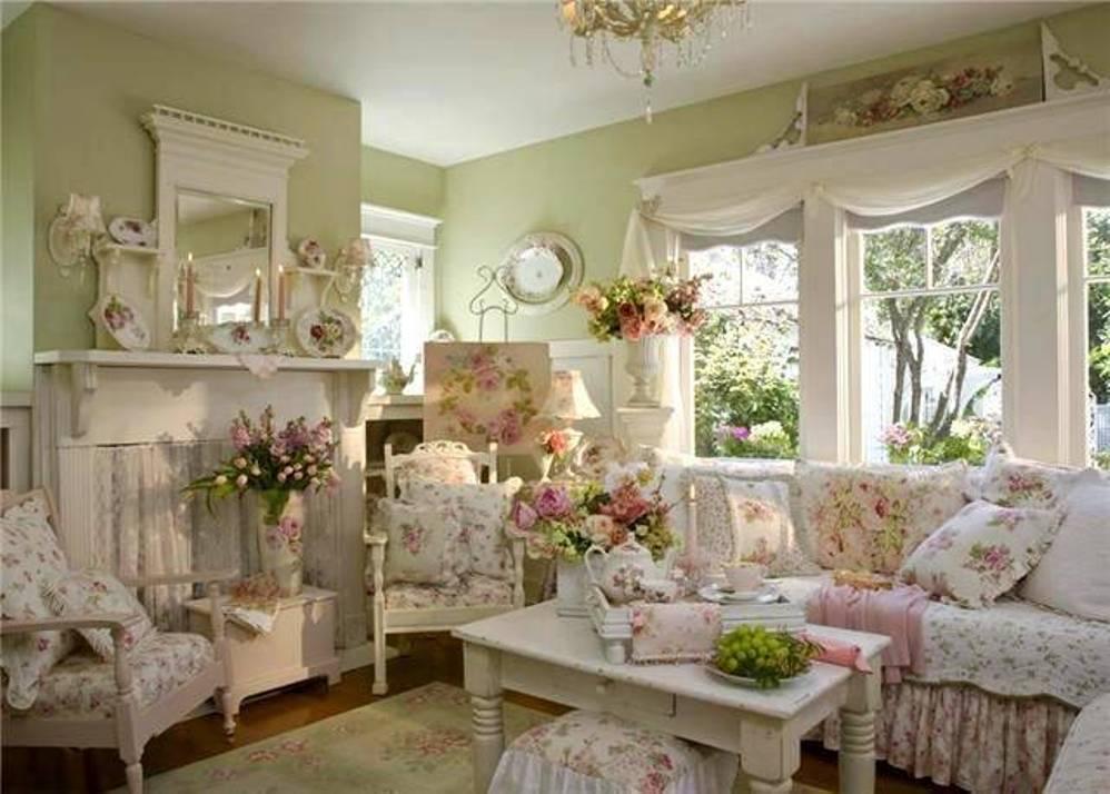 vintage-shabby-chic GREEN Livingroom