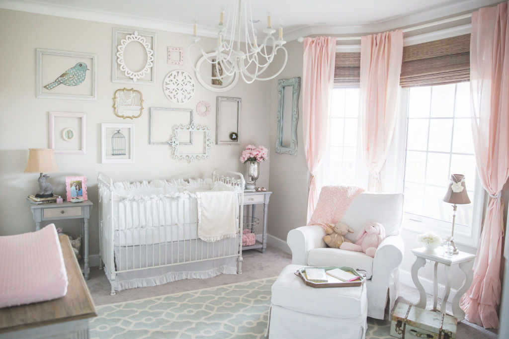 Shabby Chic-Girls Baby Room