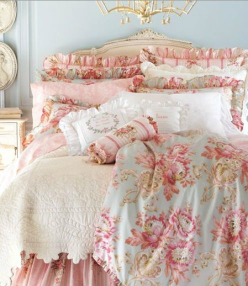 shabby-chic bed
