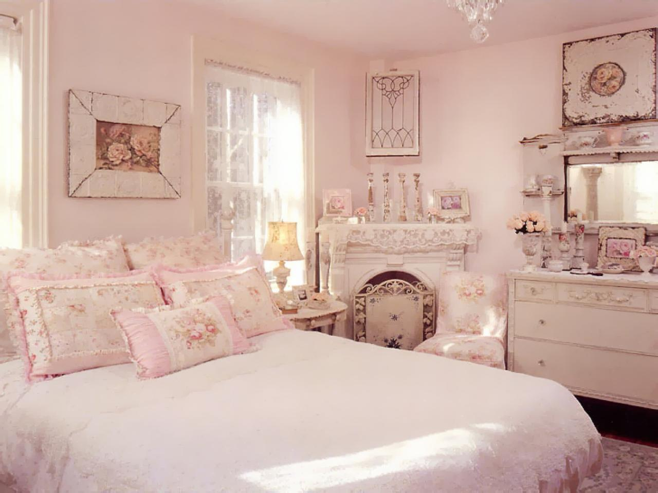 shabby pink bedroom