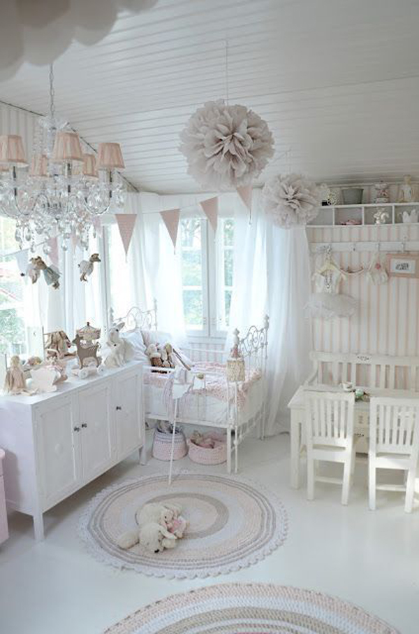 whit or pink or blue -nursery shabby-chic