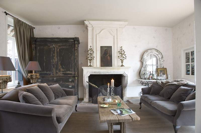 shabby-chic french living-room