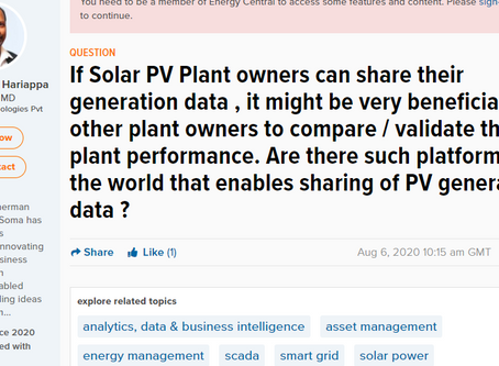 Are there such platforms in the world that enables sharing of PV generation data ?