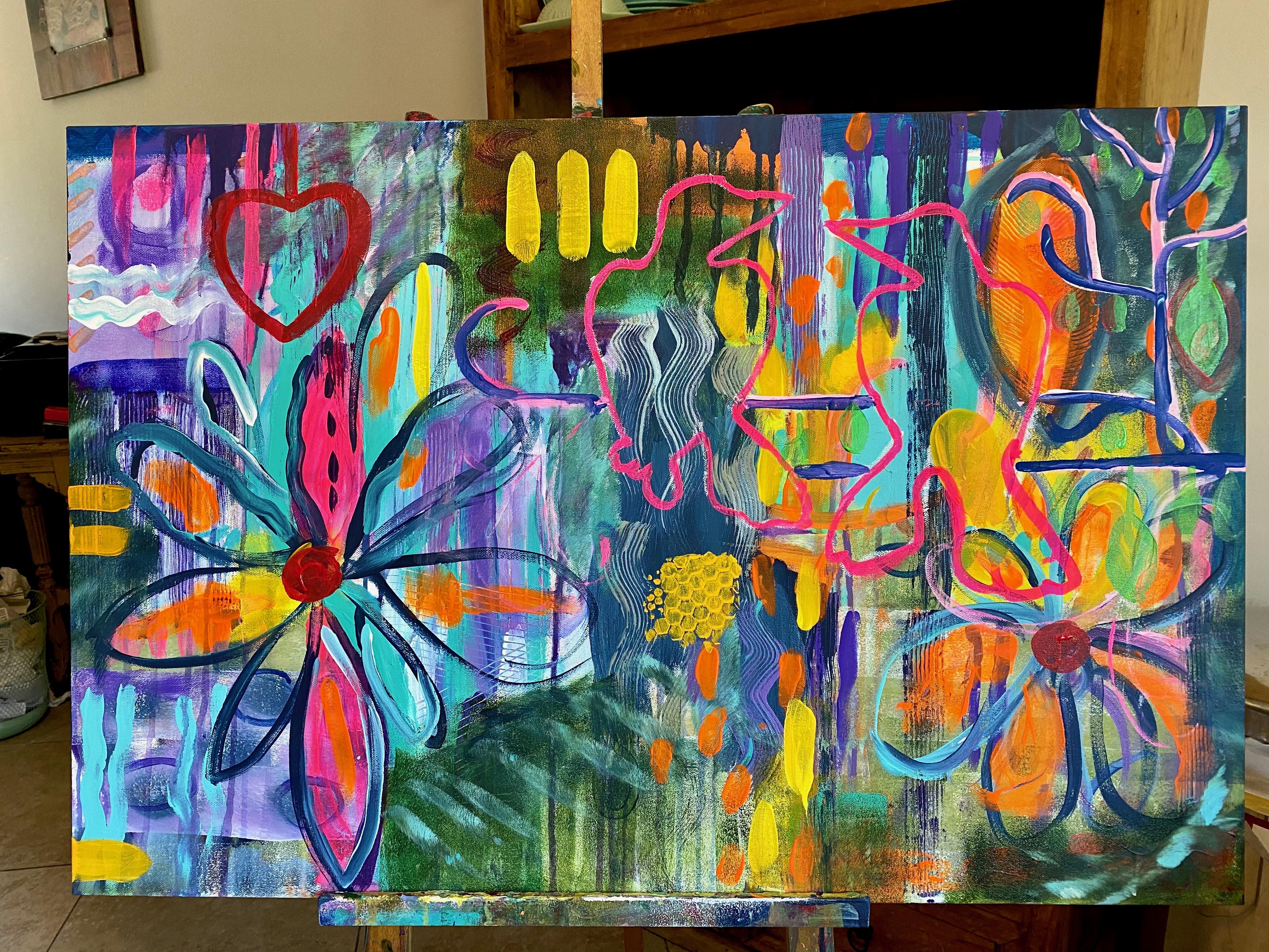 Artist pre-painting