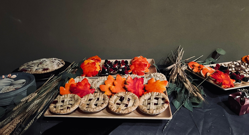 Fall themed dessert table