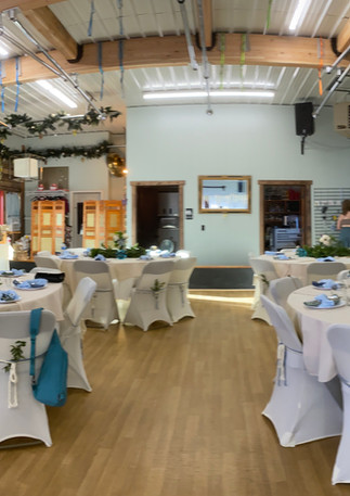 Dance studio reception