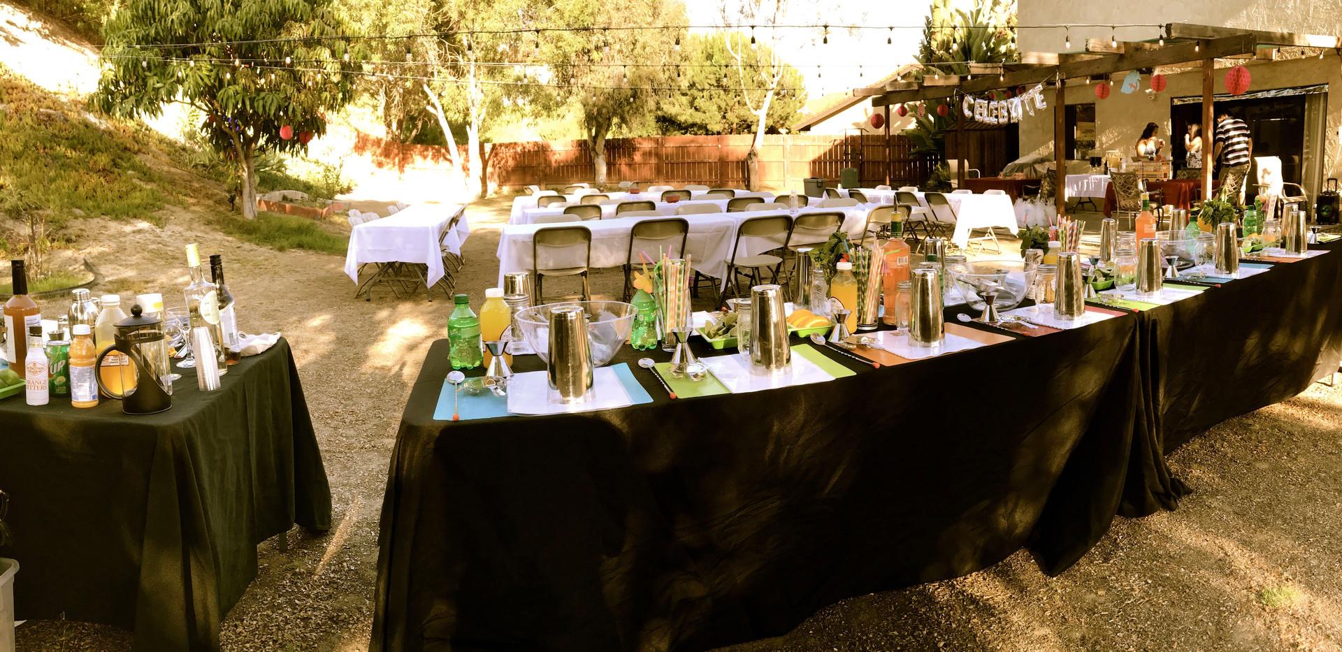 21st backyard birthday party