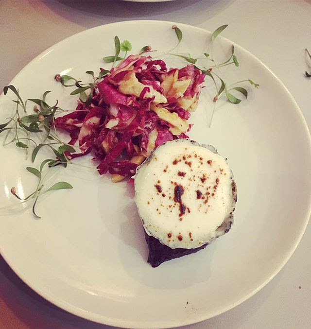 Charred beetroot & goats cheese