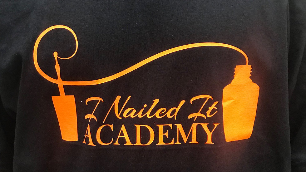 Black Glitter I Nailed It Academy Tee
