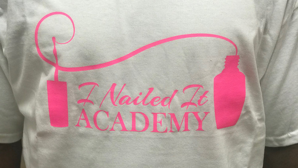 White Glitter I Nailed It Academy Tee