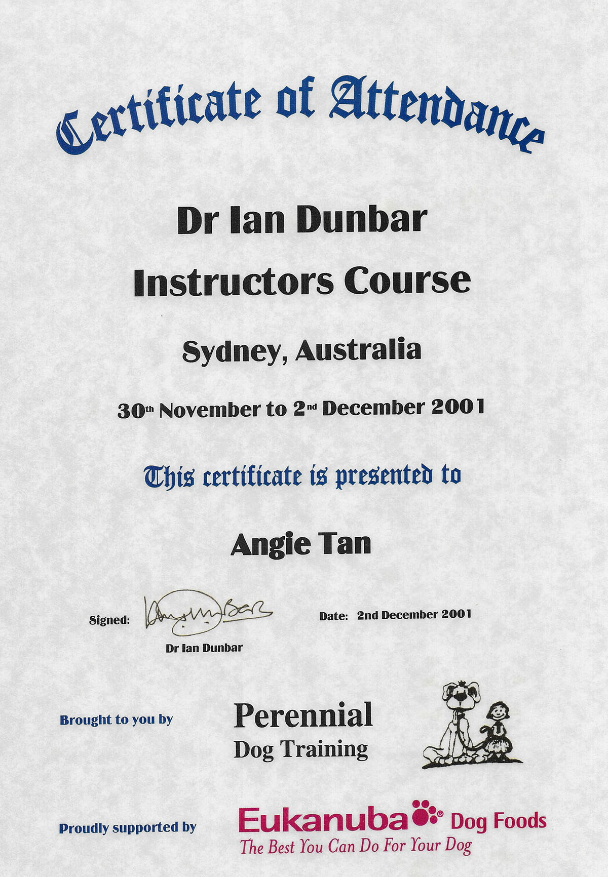 Ian Dunbar Instructors Course