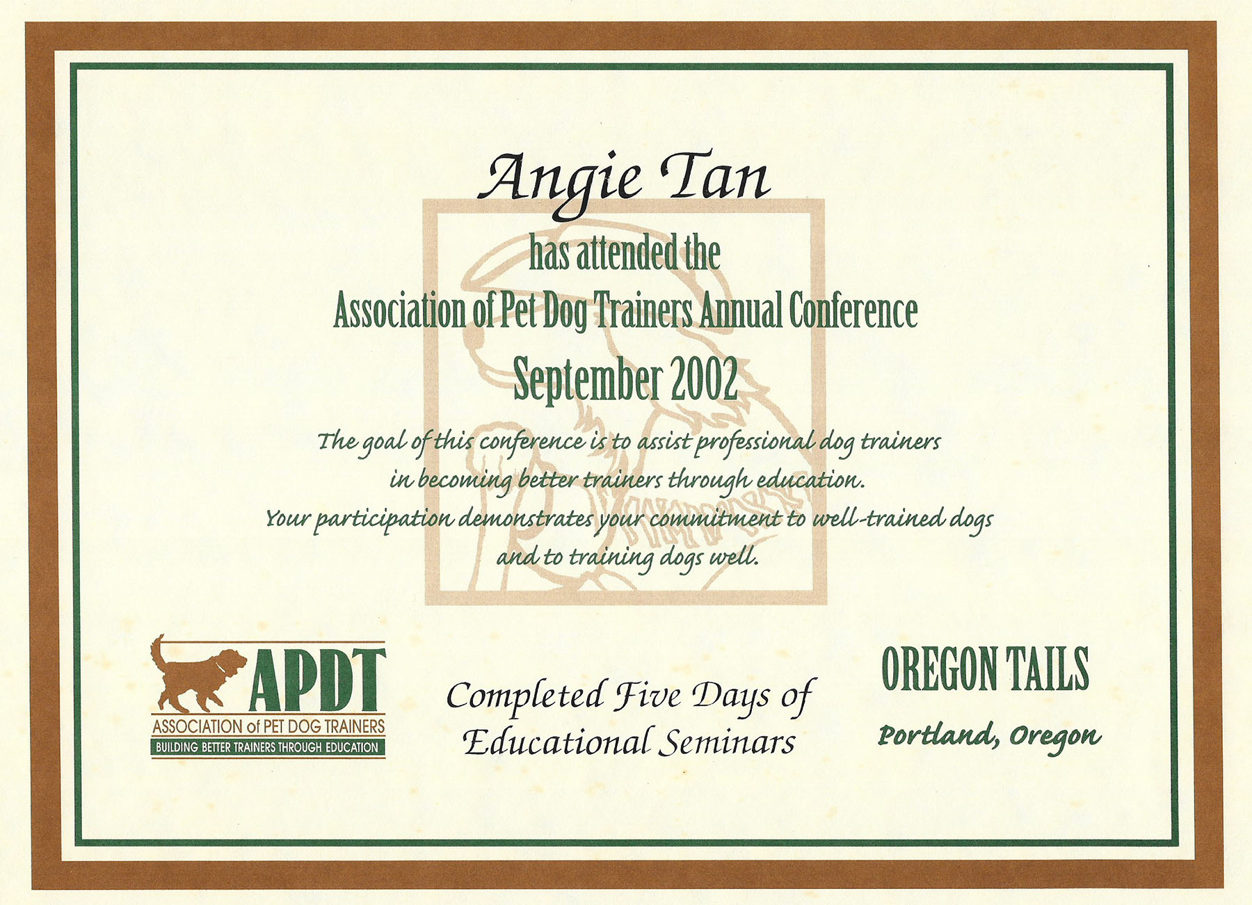 APDT conference 2002