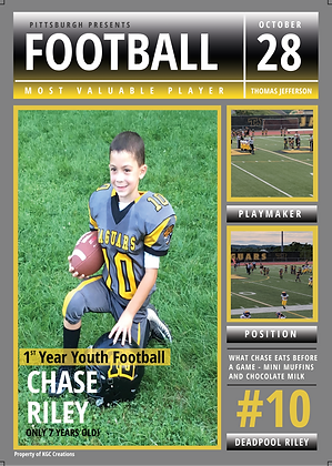 Personalized Magazine Cover: Sports
