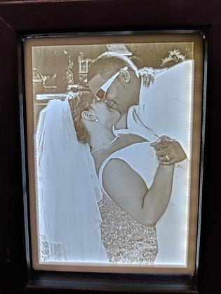 Custom Carved Photo Light Box