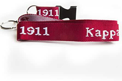 Kappa Alpha Psi Classic Woven Embroidered Lanyard [Red/White]