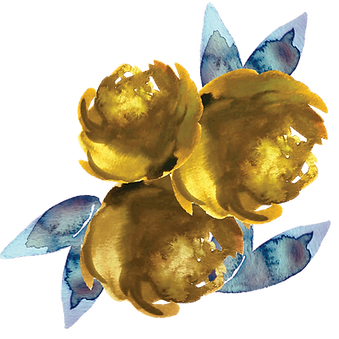 Gold Peonies