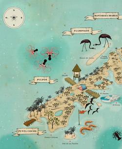 mapa Holbox