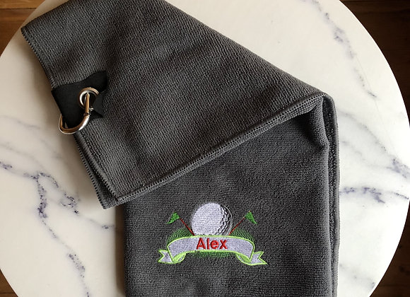 Personalised Microfibre Golf Towel