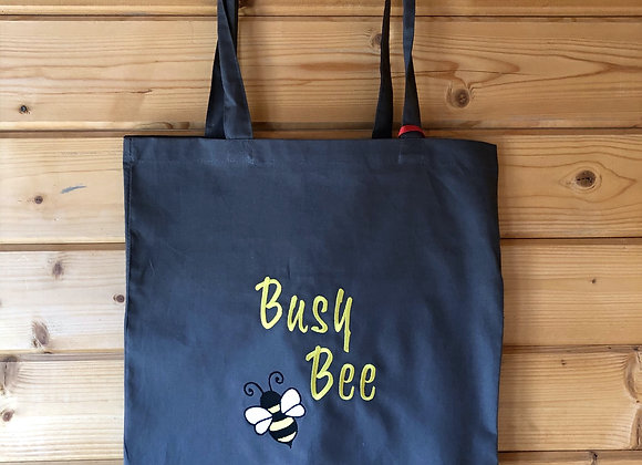 Busy bee grey tote bag