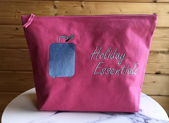 Holiday Essentials Pink Large Accessory Bag