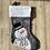 Thumbnail: Personalised Snowman Christmas Stocking Grey