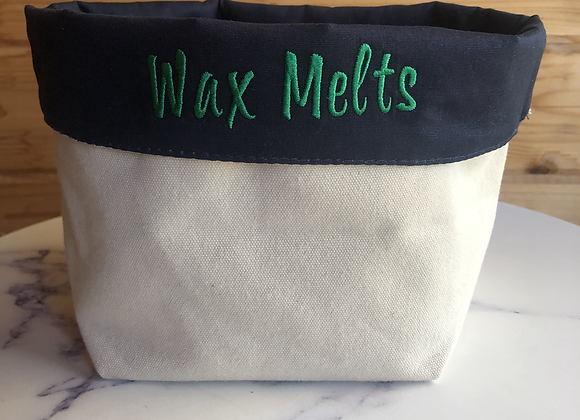 Wax Melt Canvas Storage Organiser