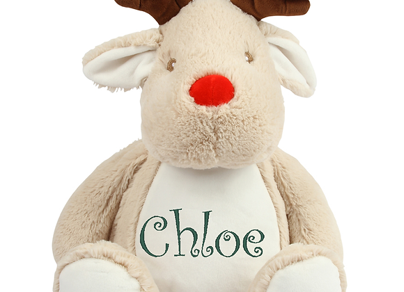 Embroidered Reindeer Cuddly Toy