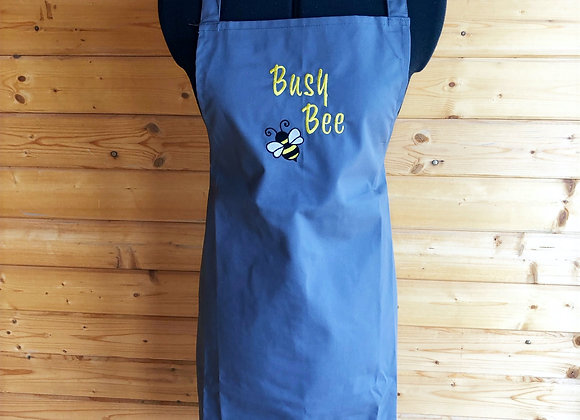 Busy Bee Grey Adults Apron