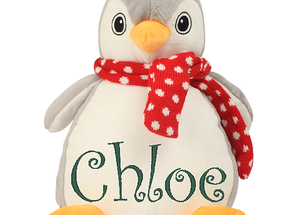 Embroidered Penguin Cuddly Toy