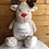 Thumbnail: Embroidered Reindeer Cuddly Toy